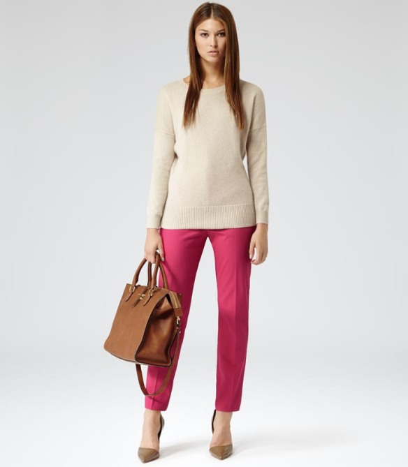 Reiss Rasberry Trousers