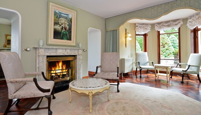 Living room in a 1840's period house, freshly painted by Donal Hegarty