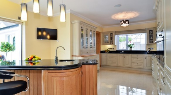 A white wooden kitchen in the a future proofed home in salthill article