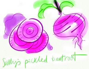 Beetroot painting by Karen Winkens