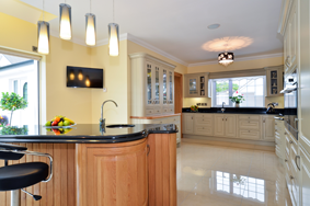 Gey painted kitchen
